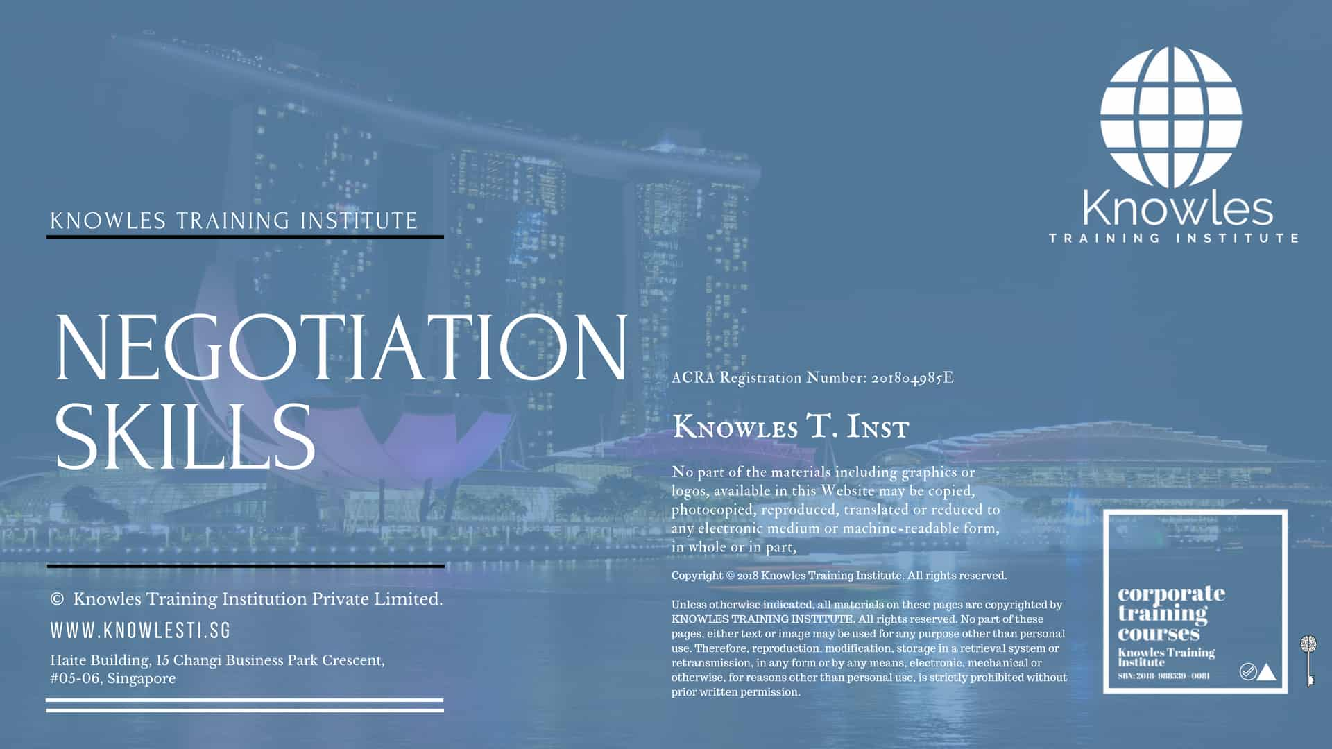 Negotiation Skills Course Singapore