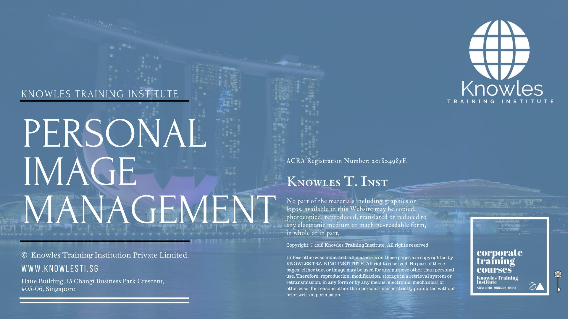 Personal Image Management Course In Singapore