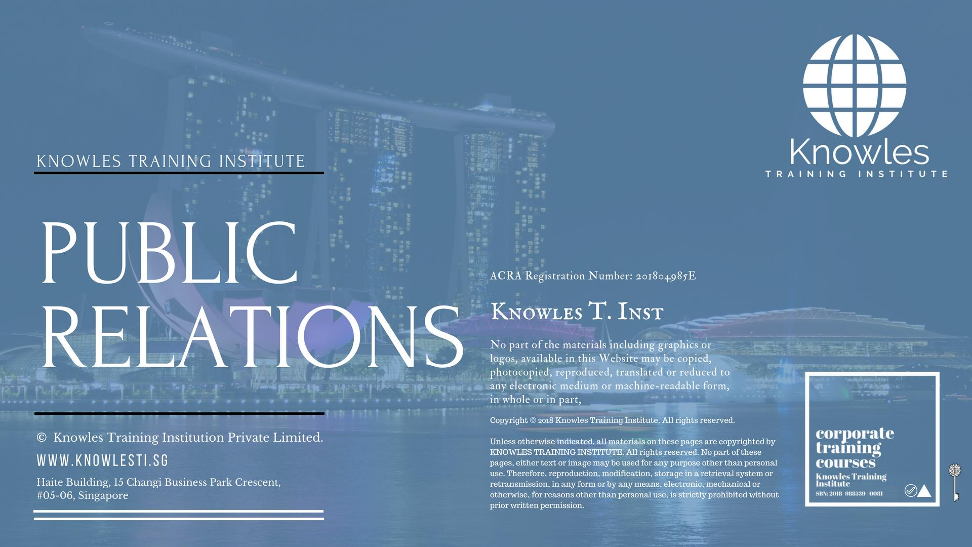 Public Relations Course In Singapore