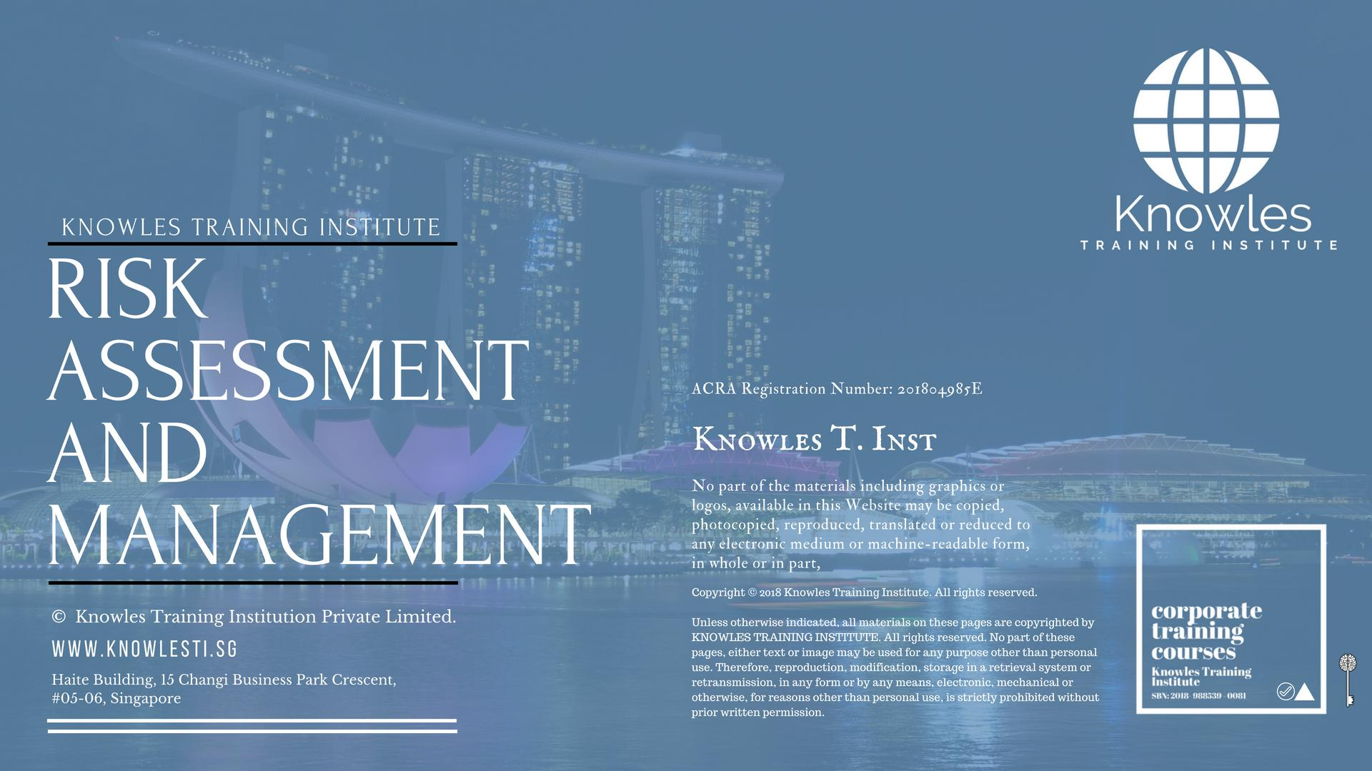 Risk Assessment And Management Course in Singapore