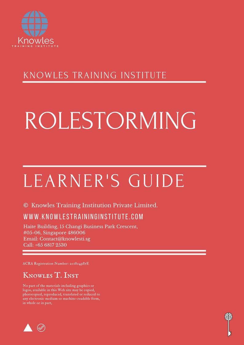 Rolestorming Training Course