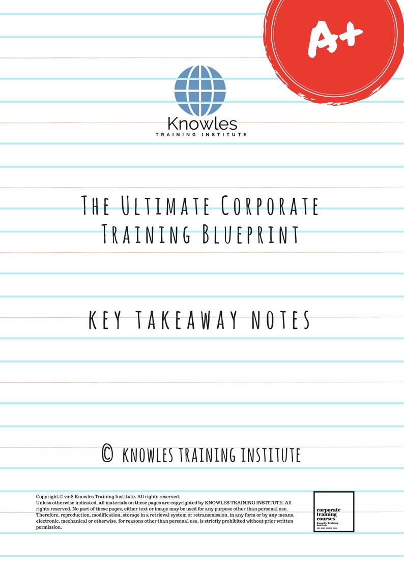 The Ultimate Corporate Training Blueprint Course