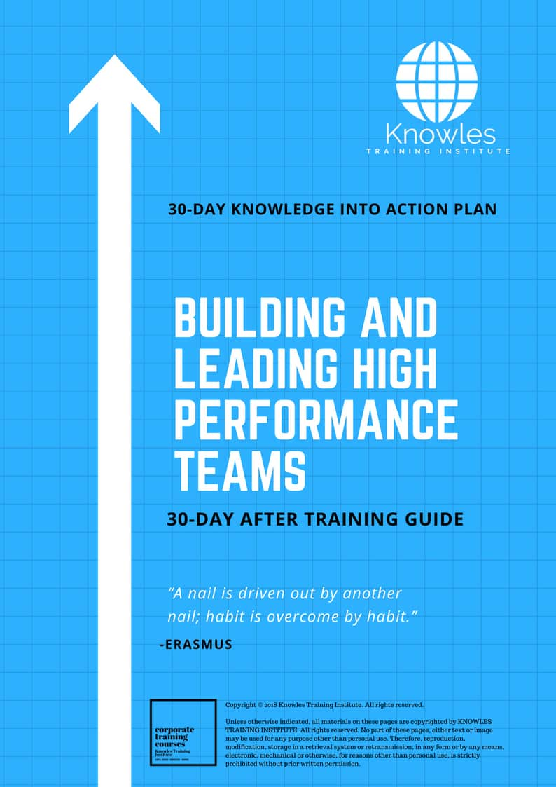 Building And Leading High Performance Teams Course