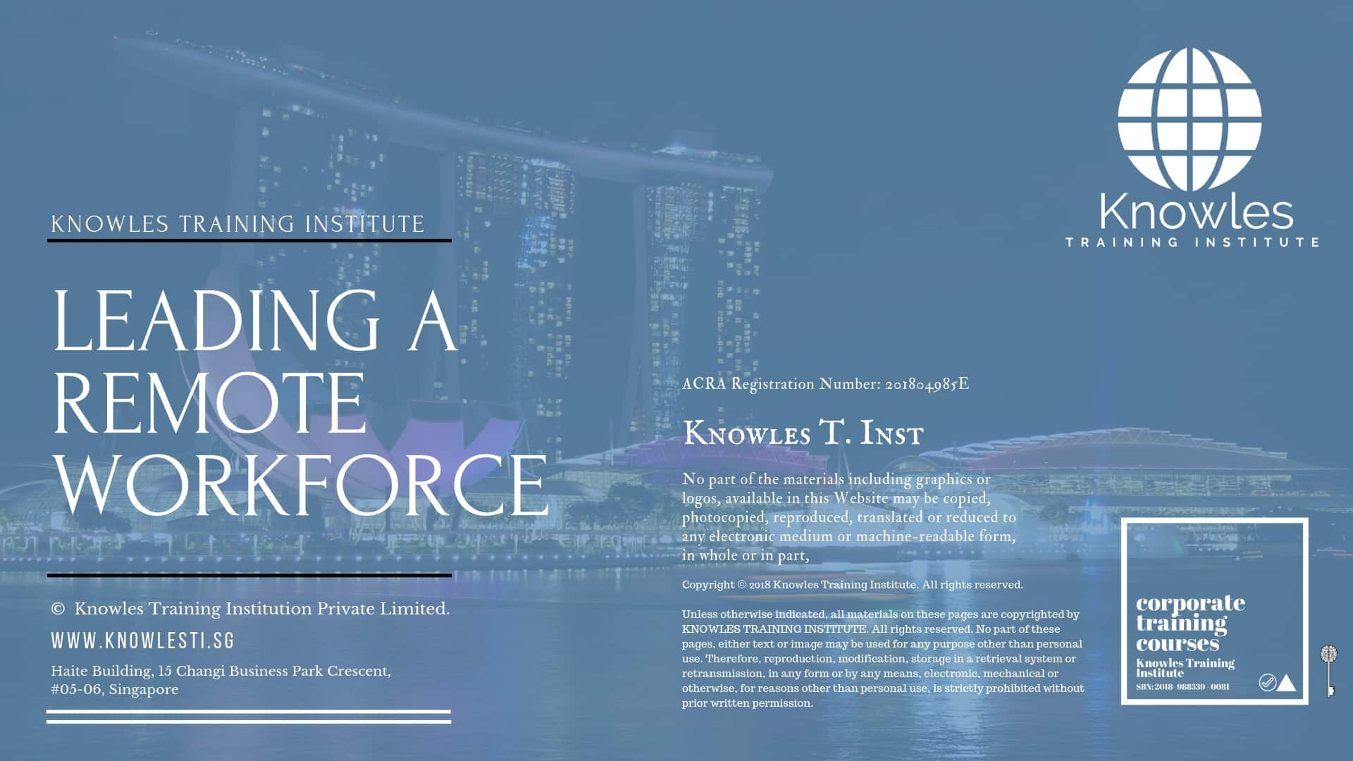 Leading A Remote Workforce Course in Singapore