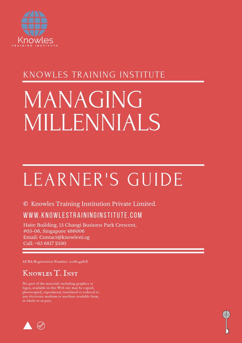 Managing Millennials Training Course