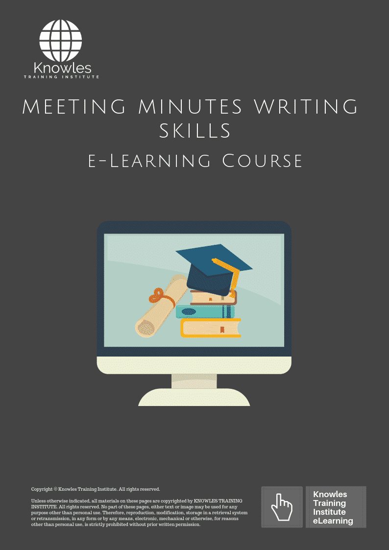 Meeting Minutes Writing Course