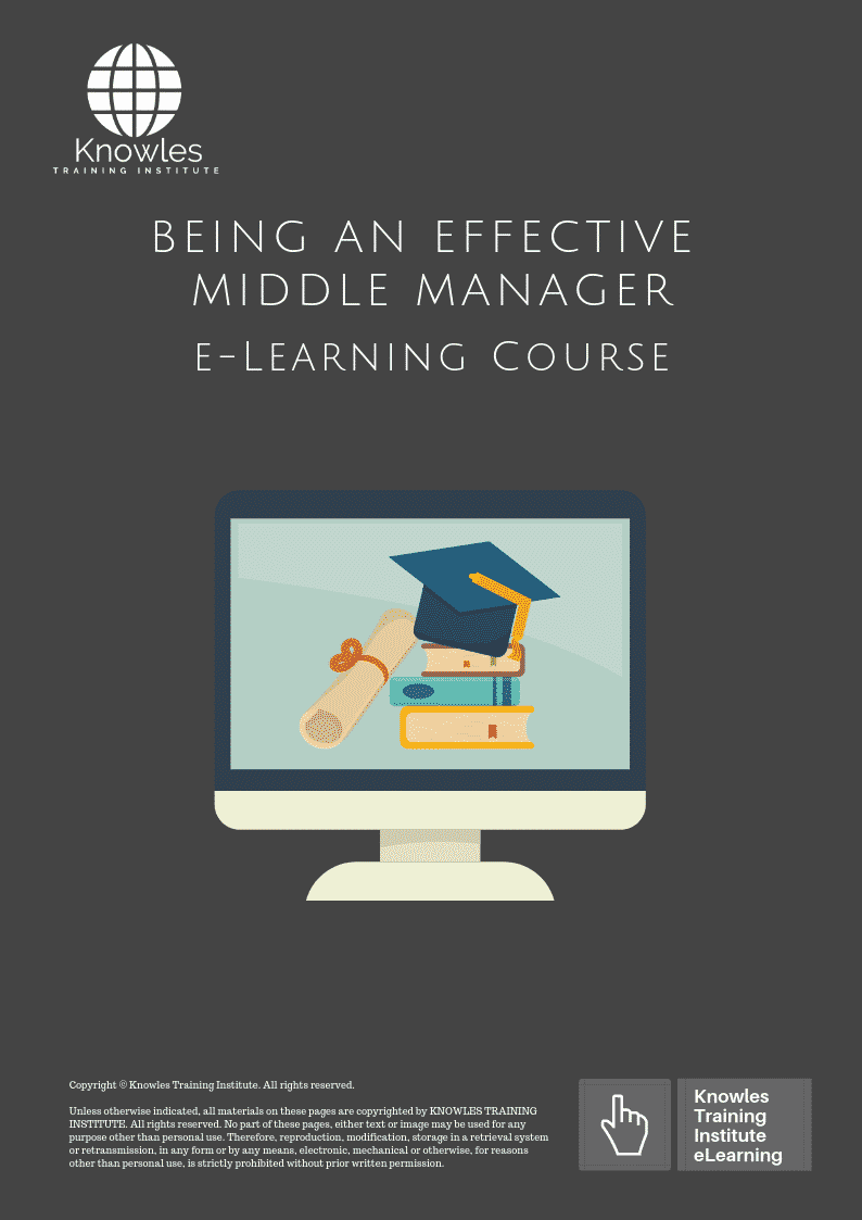 Being An Effective Middle Manager Course