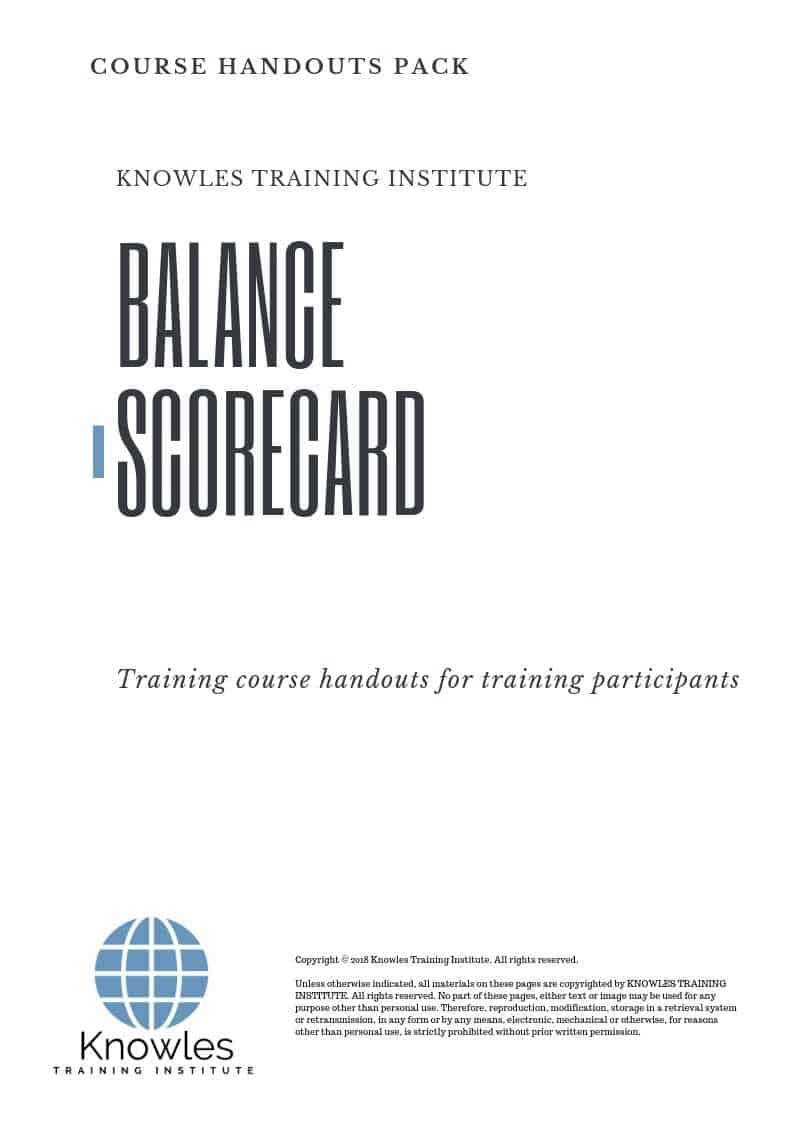 The Balanced Scorecard Course Handouts