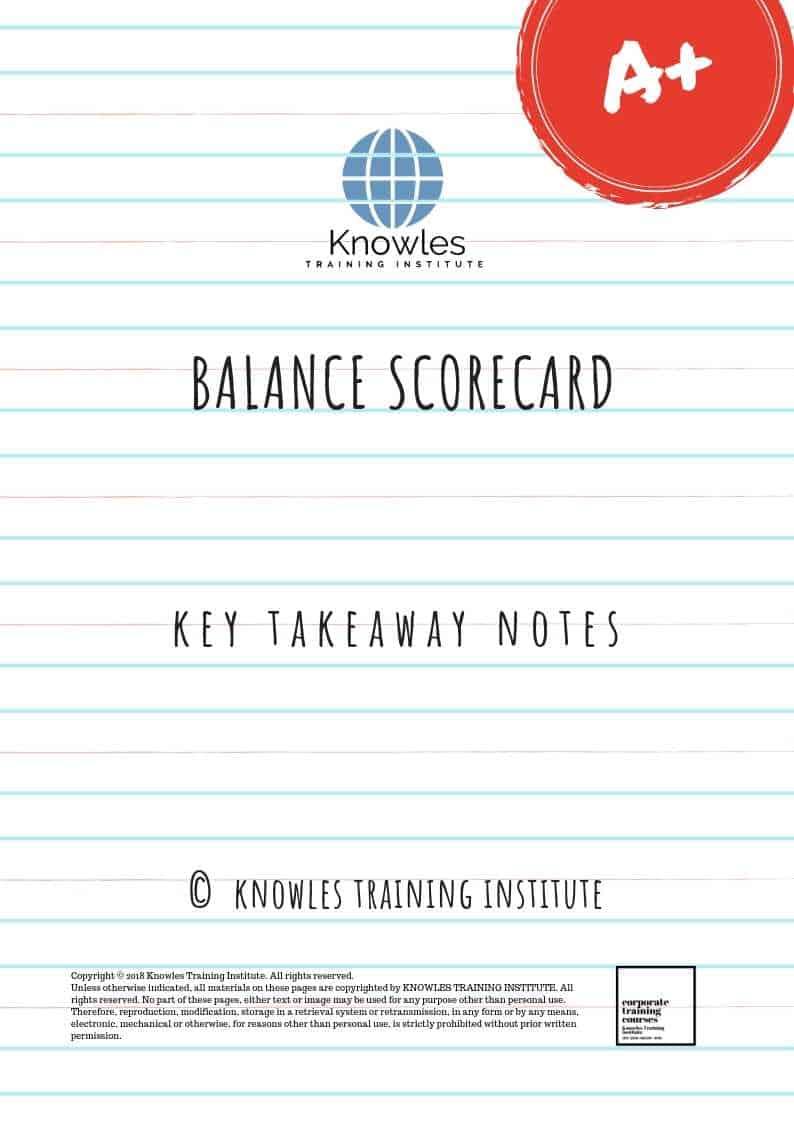 The Balanced Scorecard Key Takeaways Notes