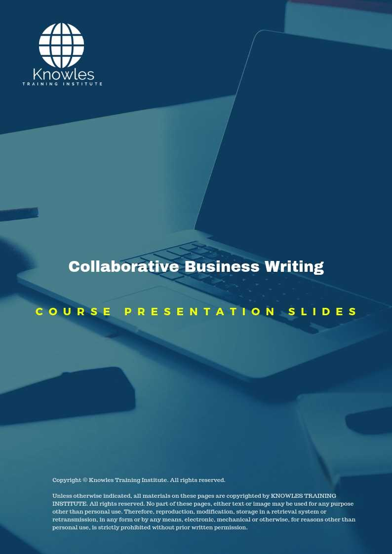 Collaborative Business Writing Course